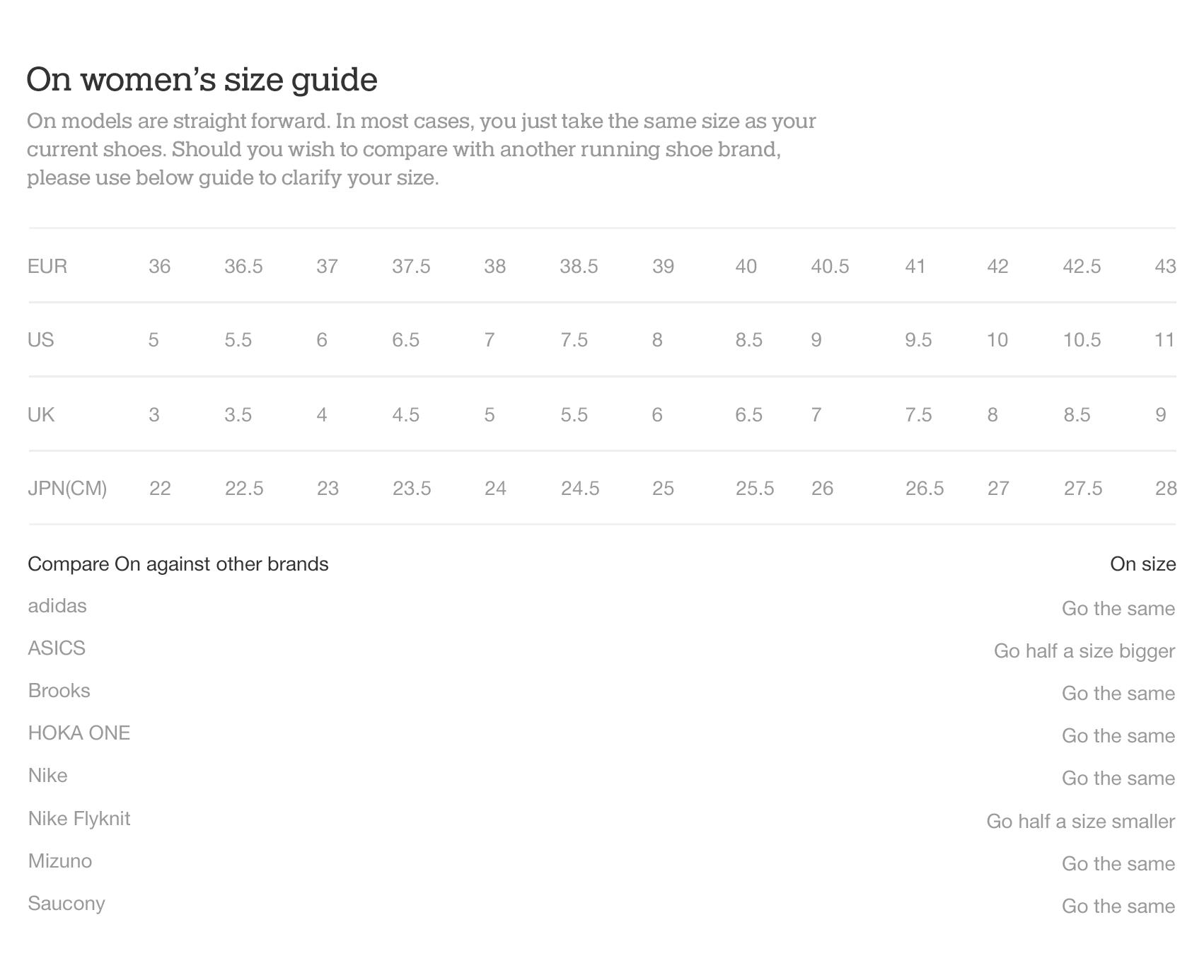 On website shoe size guide womens en
