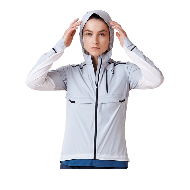 Weather Jacket Grey | White W